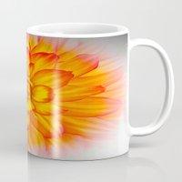 dahlia Mugs featuring Dahlia by Art-Motiva