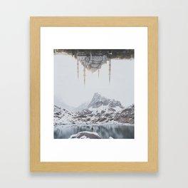 Between Earth & City III Framed Art Print