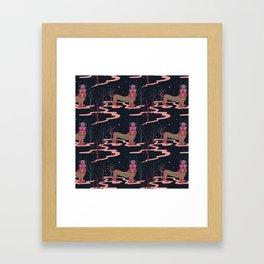 mistic tiger Framed Art Print