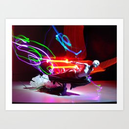 Asajj Ventress' lightsabers Art Print