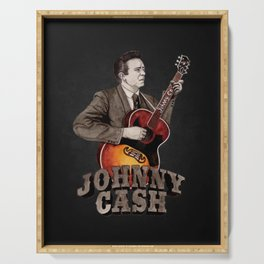 Johnny Cash Serving Tray