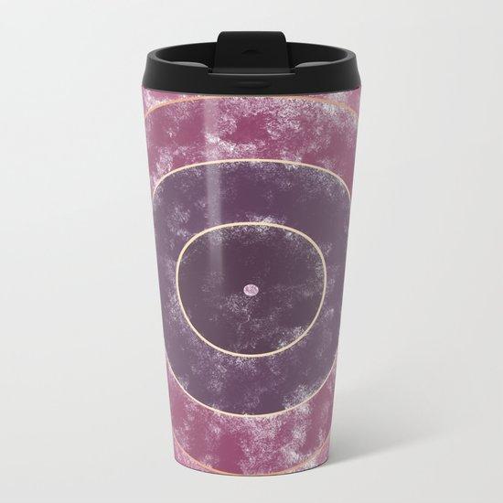 Circles Abstract Metal Travel Mug