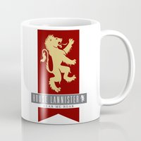 lannister Mugs featuring House Lannister Sigil by P3RF3KT