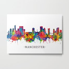 Manchester Skyline Metal Print