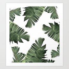 Banana Leaf Frenzy #society6 Art Print