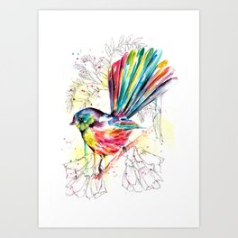 Vibrant Fantail Art Print