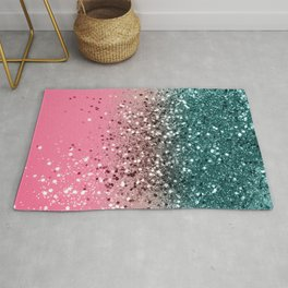 Tropical Watermelon Glitter #5 (Faux Glitter) #decor #art #society6 Rug