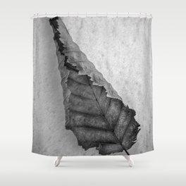 Frozen Leaf. Shower Curtain