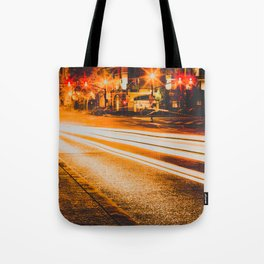 Time Lapse / Photography / Streetlights / Night Tote Bag