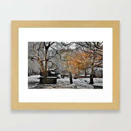 Heptonstall Churchyard Framed Art Print