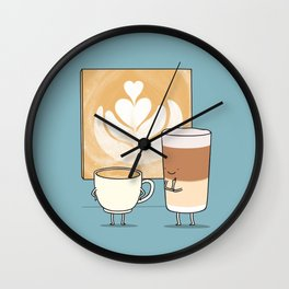 Latte art Wall Clock