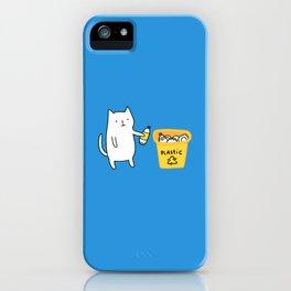 Cat recycles plastic iPhone Case