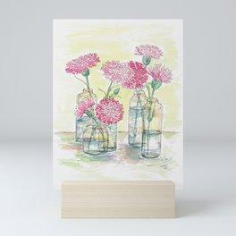 Pink Carnations, Still Life Mini Art Print
