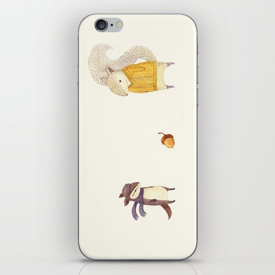The Last Acorn of Autumn iPhone & iPod Skin