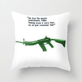 American Problems Pop-Art Gun Series #8 by Jéanpaul Ferro - 2nd Amendment Throw Pillow