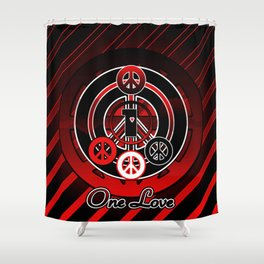 One Love (Emo) Shower Curtain