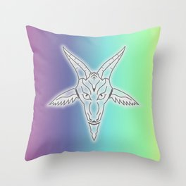 Rainbow Satan Throw Pillow