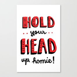 Head Up Canvas Print