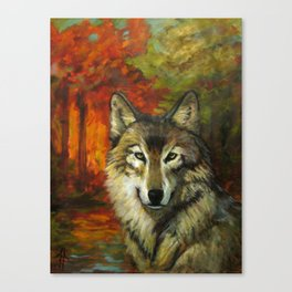 October Wolf Canvas Print