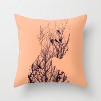 birds Throw Pillows featuring Birds by Andreas Lie