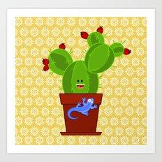 my dear cactus Art Print