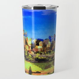 City Skyline Of Calgary, Canada Travel Mug