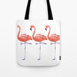 A Colorful Flamingo Triune Tote Bag