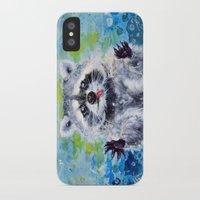 raccoon iPhone & iPod Cases featuring Raccoon by Alina Rubanenko