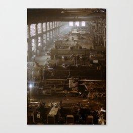 Vintage Railroad Locomotive Shop - 1942 Canvas Print