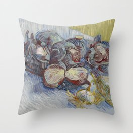 Red Cabbages and Onions Throw Pillow