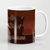 propaganda Mugs featuring Propaganda Series 7 by Alex.Raveland...robot.design.digital.art