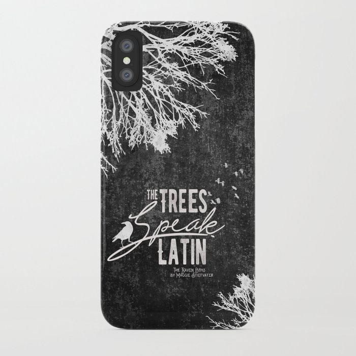 The Trees Speak Latin - Raven Boys iPhone Case
