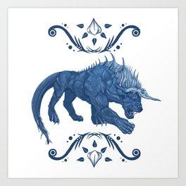 Behemoth Final Fantasy Art Print