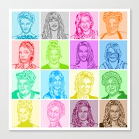 glee Canvas Prints featuring Glee by ONEX8
