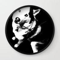husky Wall Clocks featuring Husky Husky by ARTNOIS Magazine