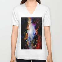 galaxy V-neck T-shirts featuring GaLaXY : Orion Nebula Dark & Colorful by GalaxyDreams