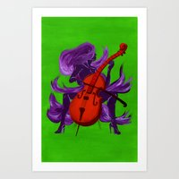 cello Art Prints featuring Cello by Christine Alexandria