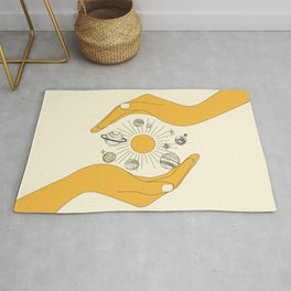 The Universe in Your Hands Rug