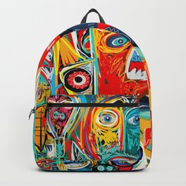 I'm hungry like a wolf Street Art Graffiti Backpack