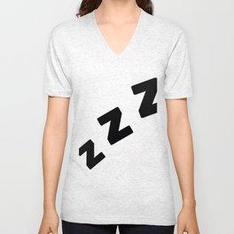 Zzzs in Black Unisex V-Neck