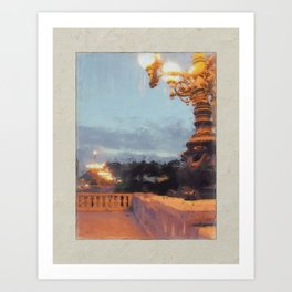 the bridge lights Art Print
