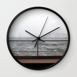 Ship in Mist Wall Clock