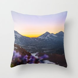 3 Sisters Sunset Throw Pillow