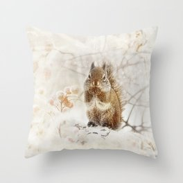 Chillin Squirrell Throw Pillow