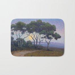 Moonrise El Capitan - Santa Barbara, California Landscape Painting by John Marshall Gamble Bath Mat