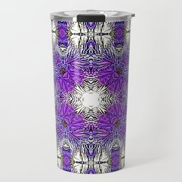 Palm Leaves Abstract Art Pattern Travel Mug
