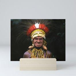 Papua New Guinea Chief's Headdress Mini Art Print