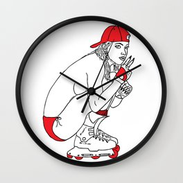 ROLLERBABE Wall Clock