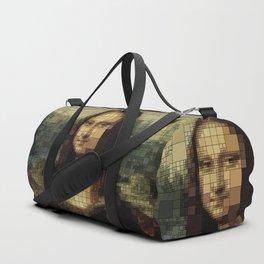 Mona Lisa on tiles Duffle Bag