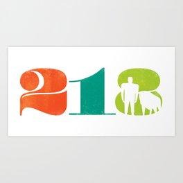 218: Minnesota Multicolor Art Print